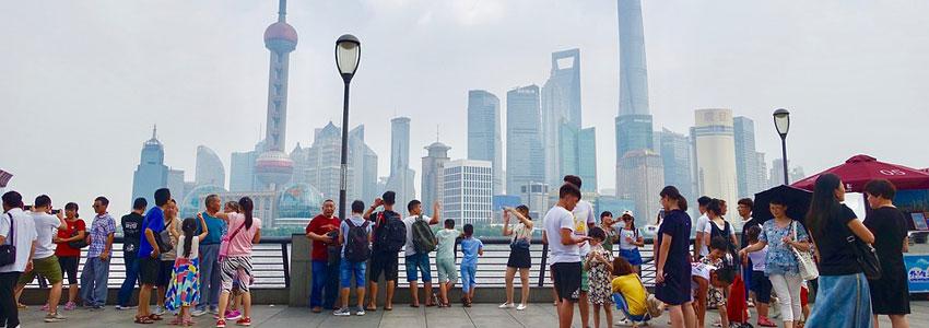 Touristes chinois à Shanghai