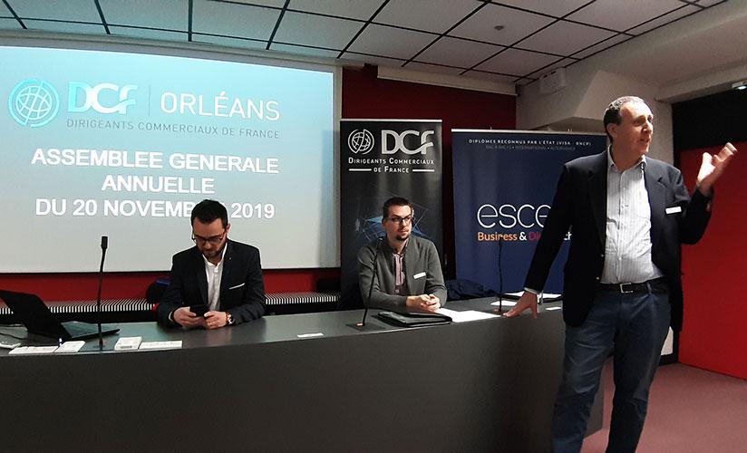 Les co-présidents et le trésorier des DCF Orléans