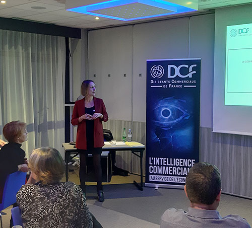 Julie Egal, la nouvelle Présidente des DCF Orléans fait sa première intervention...