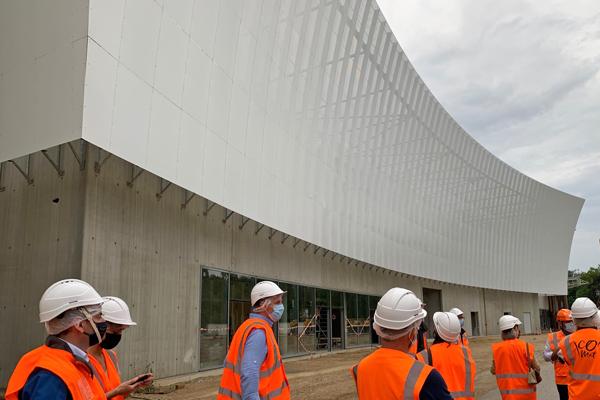 Le futur Parc des Expositions - Chantier CO'Met Orléans